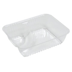 ClearPac Small Nacho Tray, 2-Compartments, Clear, 125/Bag DCCC56NT2
