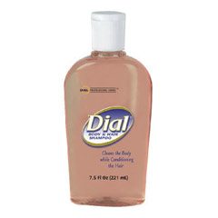 Body & Hair Shampoo, Peach - (24) 7.5 oz Flip Cap Bottles DIA04014