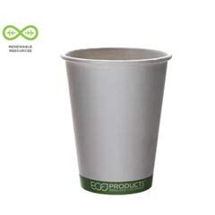 World Art Hot Drink Cups, 12oz, White/Green, 50/Sleeve ECPEP-BHC12-GS