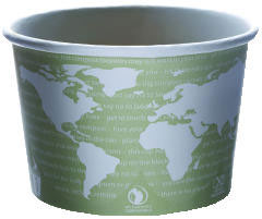 World Art PLA-Lined Soup Containers, 16oz, Gray/White ECPEP-BSC16-WA