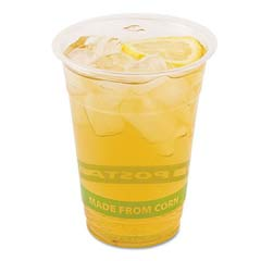 GreenStripe Compostable Cold Drink Cups, 16 oz, Clear ECPEP-CC16-GS