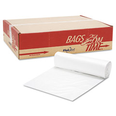 High-Density Can Liners, 40 x 48, 45-Gallon, 22 Micron, Clear, 25/Roll ESSBR4048SX