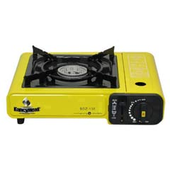 Portable Butane Stove, 9925 BTU, Piezoelectric Ignition, Yellow FHCF200