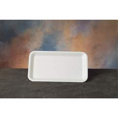 Supermarket Tray, Foam, White, 8-1/4x4-3/4, 125/Bag GNP17SWH