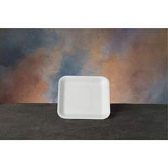 Supermarket Tray, Foam, White, 5-1/4 x 5-1/4, 125/Bag GNP1SWH