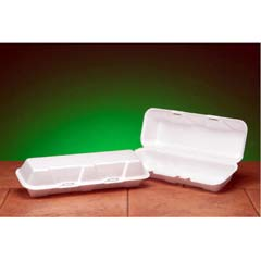 Foam Hinged Hoagie Container, Extra-Large, 13-1/5x4-1/2x3-1/5, White, 100/Bag GNP26600