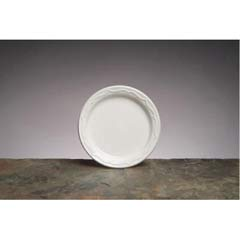 Aristocrat Plastic Plates, 6 Inches, White, Round, 125/Pack GNP70600