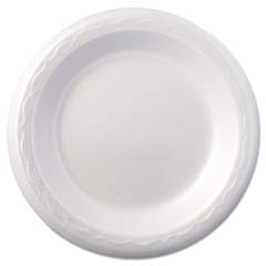 Celebrity Foam Plates, 6 Inches, White, Round, 125/Pack GNP80600