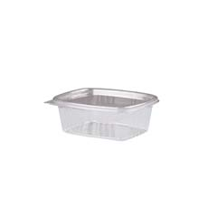 Clear Hinged Deli Container, Plastic, 12 oz, 5-3/8 x 4-1/2 x 2-1/2, 100/Bag GNPAD12