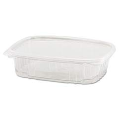 Clear Hinged Deli Container, Plastic, 24 oz, 7-1/4 x 6-2/5 x 2-1/4, 100/Bag GNPAD24