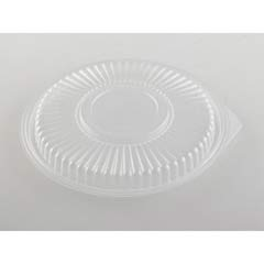 Microwave Safe Container Lid, Plastic, Fits 24-32 oz, Round, Clear, 75/Bag GNPFP932