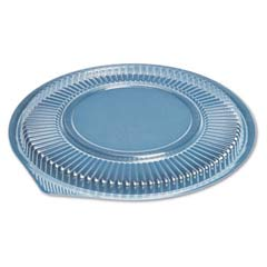Microwave Safe Container Lid, Round, Plastic, Fits 48 oz, Clear, 75/Bag GNPFP948