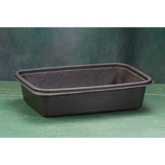 Microwave-Safe Containers,32 oz, Plastic, Black, 8-3/4x6-1/8x2, 75/Bag GNPFPR032