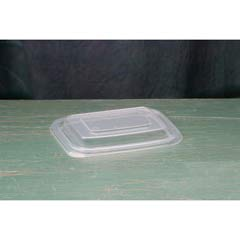 Microwave Safe Container Lid, Plastic, Fits 12-16 oz, Rectangular, Clear, 75/Bag GNPFPR916