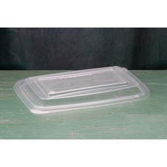 Microwave Safe Container Lid, Plastic, Fits 24-32 oz, Rectangular, Clear, 75/Bag GNPFPR932