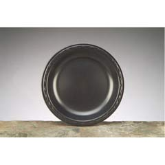 Elite Laminated Foam Plates, 8.88 Inches, Black, Round, 125/Pack GNPLAM09-3L