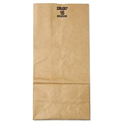 16# Paper Bag, 57-lb Base Weight, Brown Kraft, 7-3/4 x 4-13/16 x 16, 250-Bundle BAGGX16