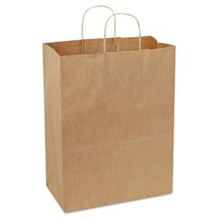 Handled Shopping Bags, #65, 13w x 7d x 17h, Natural BAGKSHP13717C