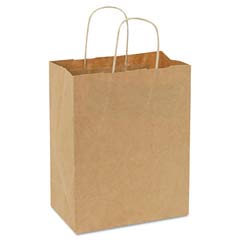 Handled Shopping Bags, #60, 8w x 4 1/2d x 10 1/4h, Natural BAGKSHP8451025C
