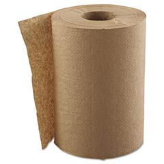 Hardwound Roll Towels, 1-Ply, Natural, 8