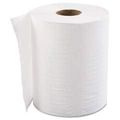 Hardwound Roll Towels, 1-Ply, White, 8