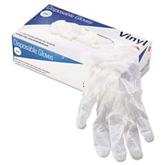 Vinyl Gloves, Powder-Free, Purple, Large, 100/Dispenser Pack GEN8961L