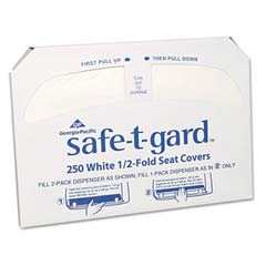 Half-Fold Toilet Seat Covers, White GPC470-46
