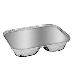 Aluminum Oblong Container with Lid, 3-Compartment HFA204535-250W