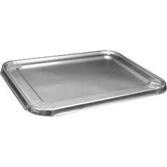Steam Table Pan Foil Lid, Fits Half-Size Pan, 100/Pack HFA204900