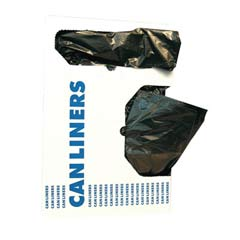 Low-Density Can Liner, 40 x 53, 55-Gallon, 0.9 Mil, Black, 20/Box HERH8053TK