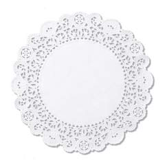 Brooklace Lace Doilies, Round, 5