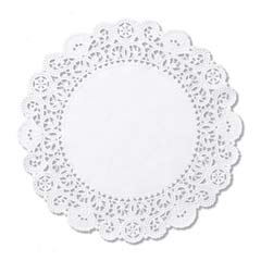Brooklace Lace Doilies, Round, 6