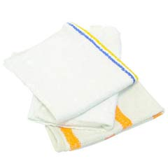 Counter Cloth/Bar Mop, Value Choice, White, 25 Pounds/Bag HOS534-25BP