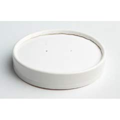 Vented Paper Lids, 8-16oz Cups, White HUH71870