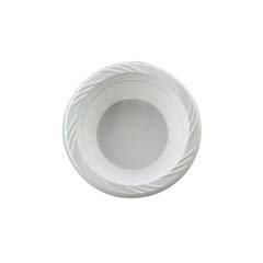 Plastic Bowls, 12 Ounces, White, Round, Lightweight, 125/Pack HUH82212