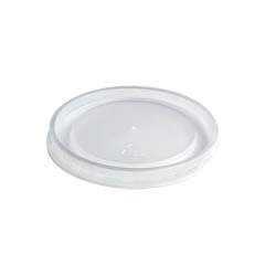 High Heat Vented Plastic Lids, Fits All Sizes: 6-16 oz, Translucent, 50/Bag HUH89107