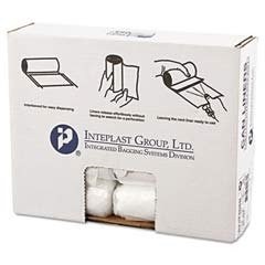 High-Density Can Liner, 24 x 24, 10-Gallon, 8 Micron, Clear, 50/Roll IBSS242408N