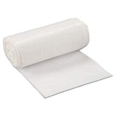 Low-Density Can Liner, 24 x 32, 16-Gallon, .50 Mil, White, 50/Roll IBSSL2432XHW