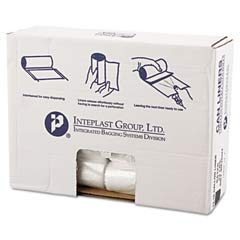 High-Density Can Liner, 24 x 31, 16-Gallon, 8 Micron Equivalent, Clear, 50/Roll IBSVALH2433N8