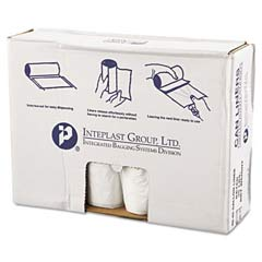 High-Density Can Liner, 40 x 46, 45-Gallon, 13 Micron Equivalent, Clear, 25/Roll IBSVALH4048N12