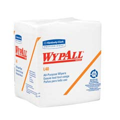 WYPALL L40 Wipers, Quarterfold, 12 1/2 x 13, White, 56/Pack KCC05600