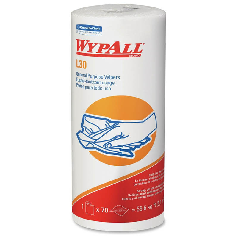 WYPALL L30 Wipers, 11 x 10 2/5, White KCC05843