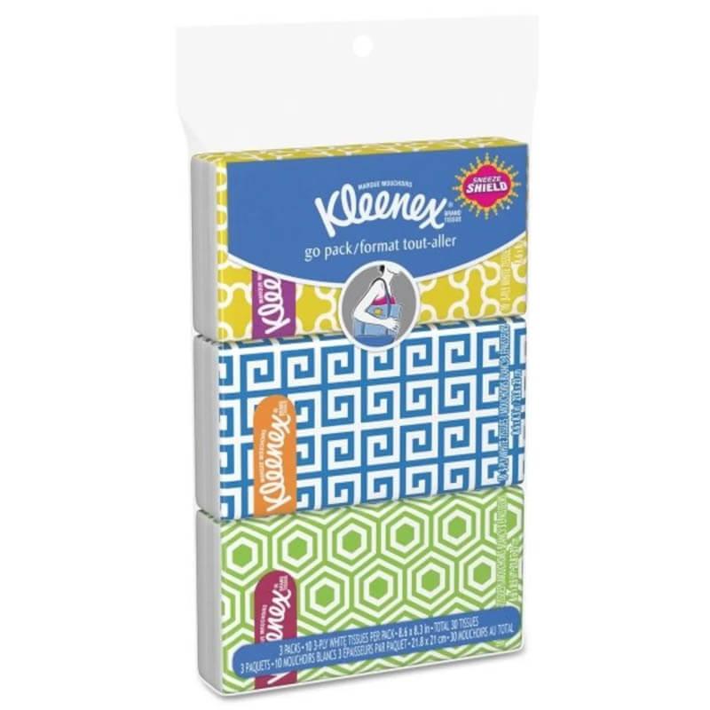 Kleenex Facial Tissue Pocket Packs 3 Ply 36 Pack Unoclean