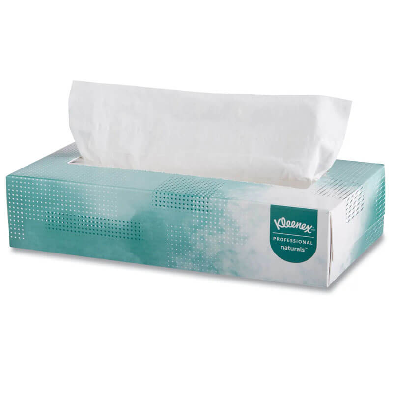 KLEENEX SOFTBLEND Facial Tissue, 2-Ply, White KCC21601