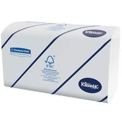 KLEENEX Multifold Towels, 16.3 x 8.5, 2-Ply, White, 94/Pack KCC28791