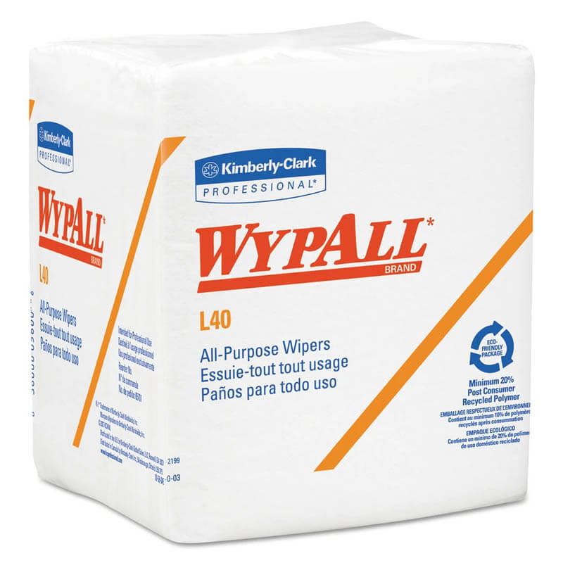 WYPALL X50 Wipers, 10 x 12 1/2, White KCC35025