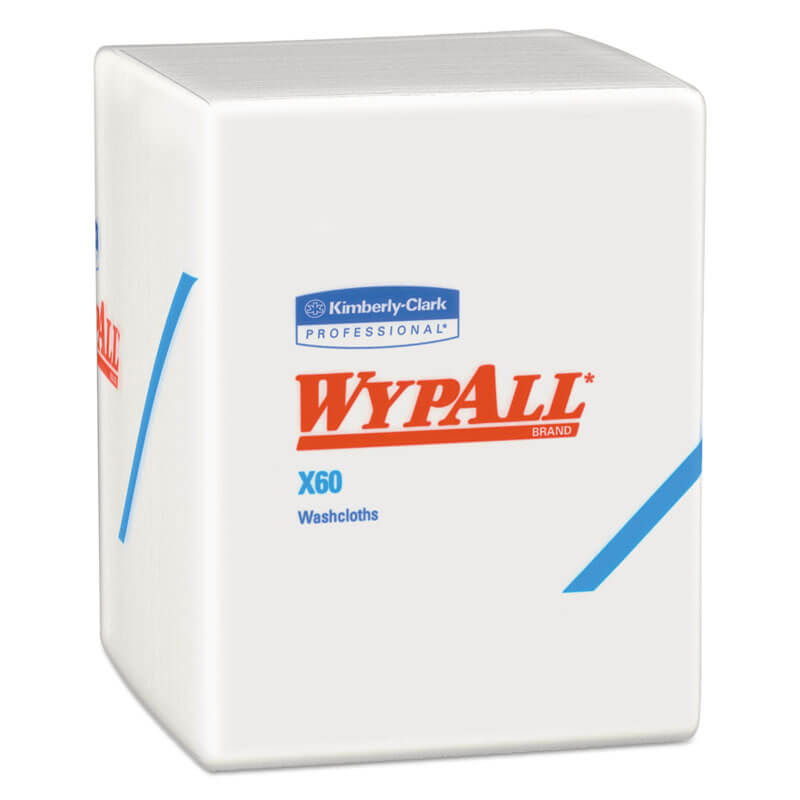 WYPALL X60 Washcloths, 12 1/2 x 10, White KCC41083