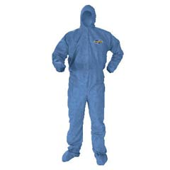 KLEENGUARD A60 Elastic-Cuff and Back Hood and Boot Coveralls, Denim, 3XL KCC45096