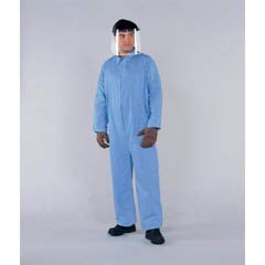 KLEENGUARD A65 Flame-Resistant Coveralls, Blue, 2XL KCC45315