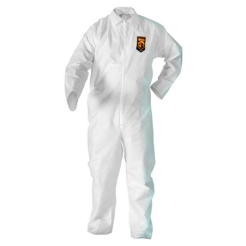 BP KLEENGUARD A20 Coveralls, MICROFORCE Barrier SMS Fabric, White, L KCC49003